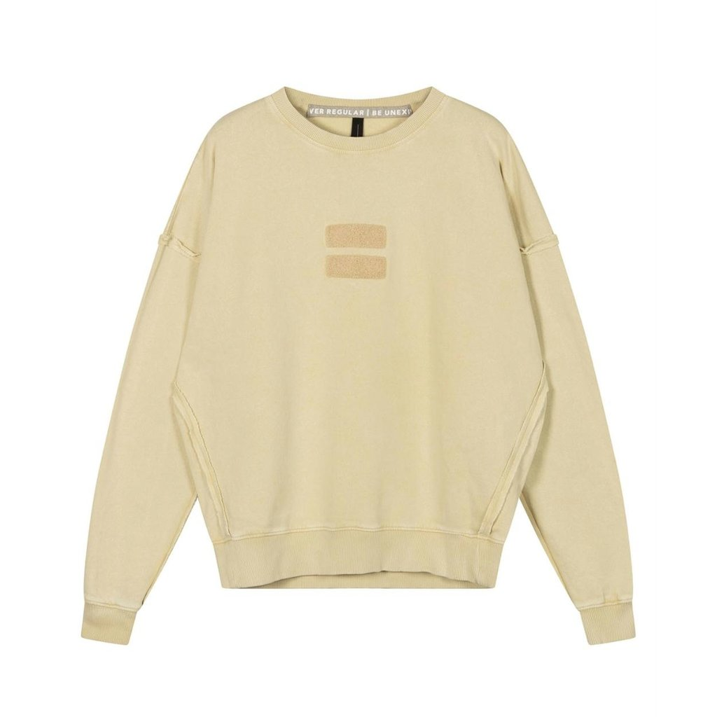 10Days Dirty Yellow oversized sweater washed 20-800-1201