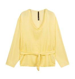 10Days 10Days Yellow belted top silk fleece 20-405-1201