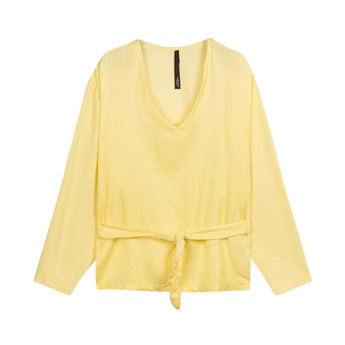 10Days Yellow belted top silk fleece 20-405-1201