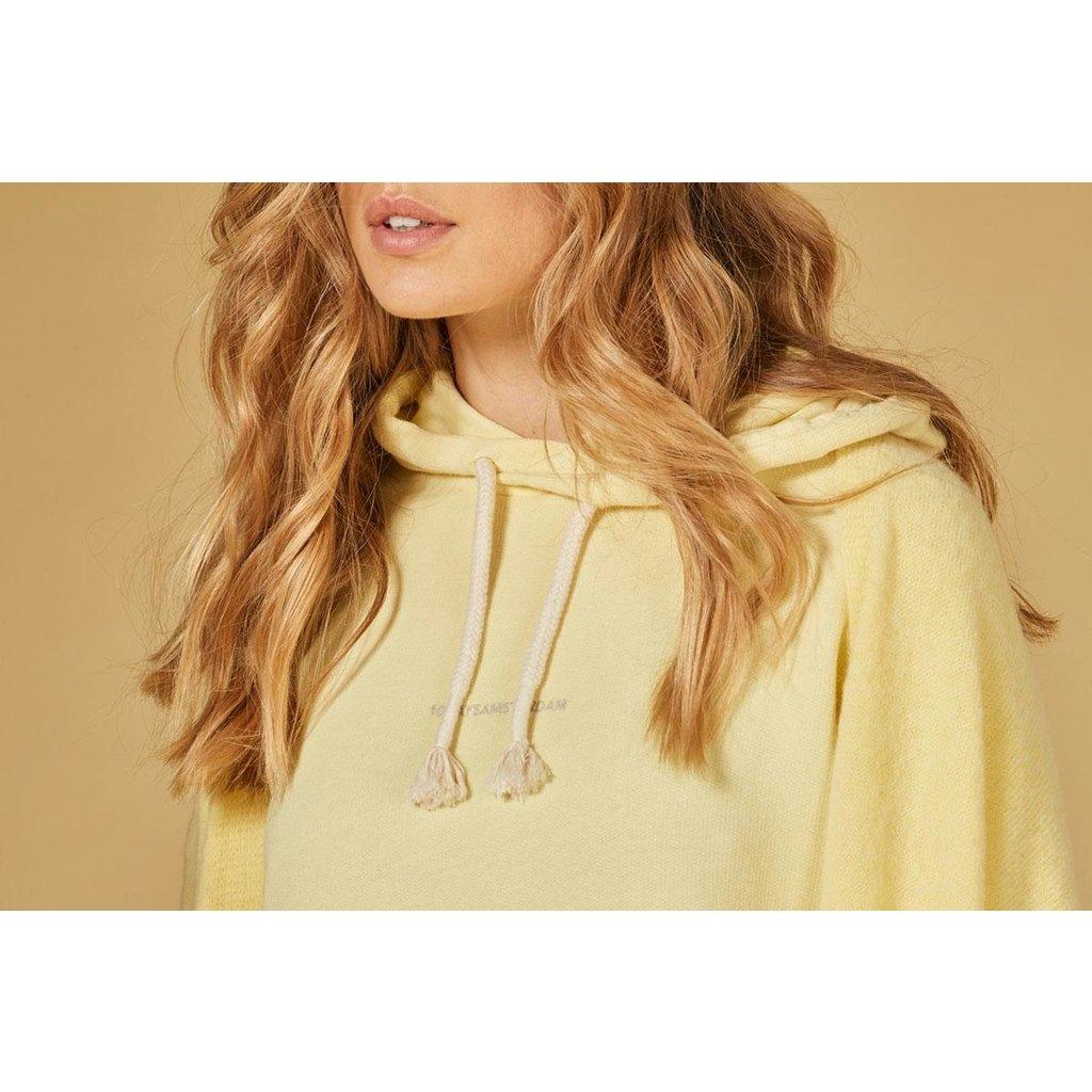 10Days Yellow oversized hoodie logo 20-803-1201
