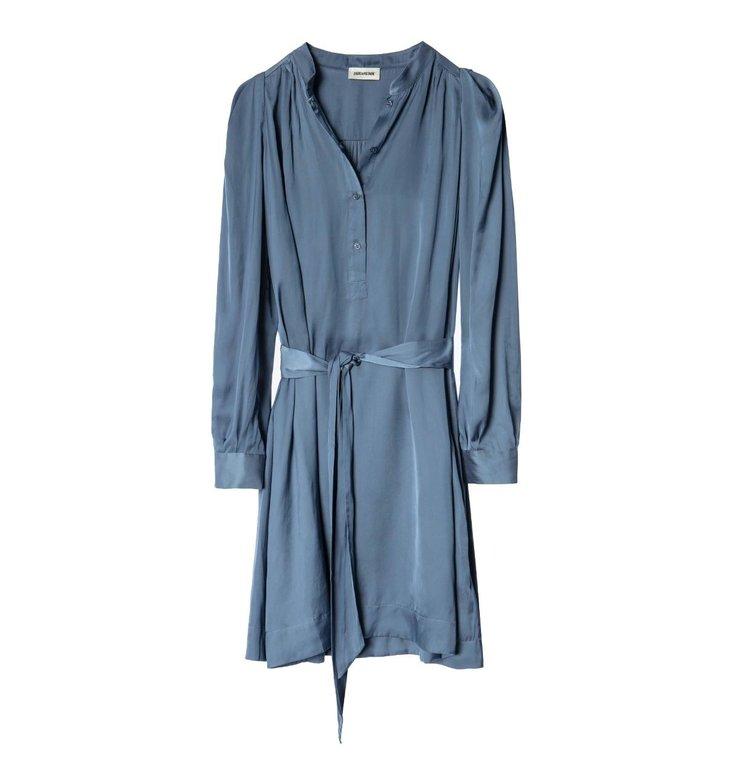 Zadig & Voltaire Zadig & Voltaire Blue Dress Retouch Satin