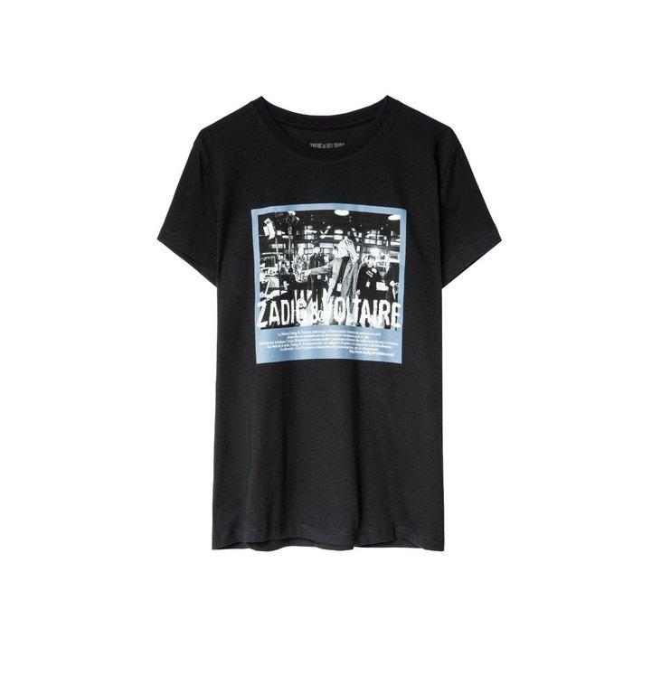 Zadig & Voltaire Zadig & Voltaire Black T-shirt Zoe Photoprint