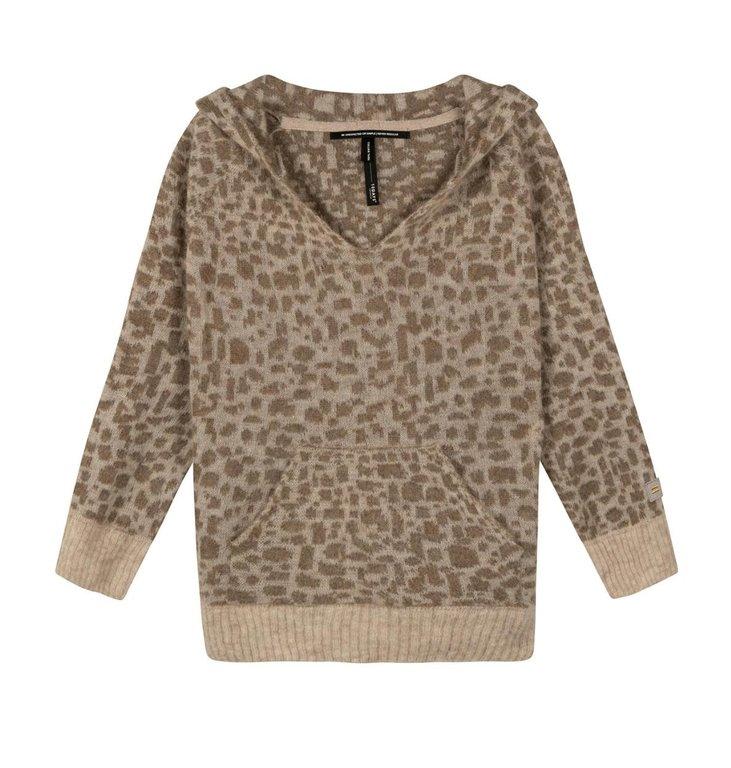 10Days 10Days Caramel soft hoodie leopard 20-603-1201