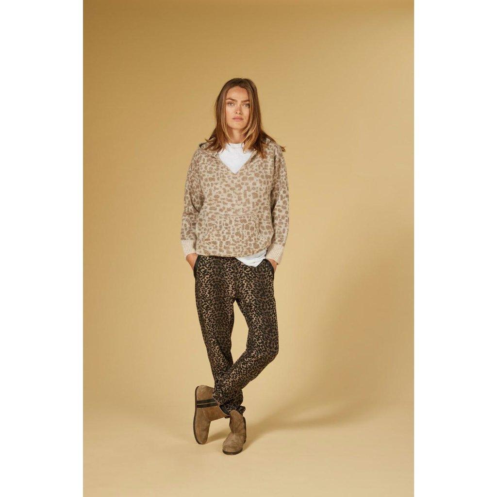10Days Caramel soft hoodie leopard 20-603-1201