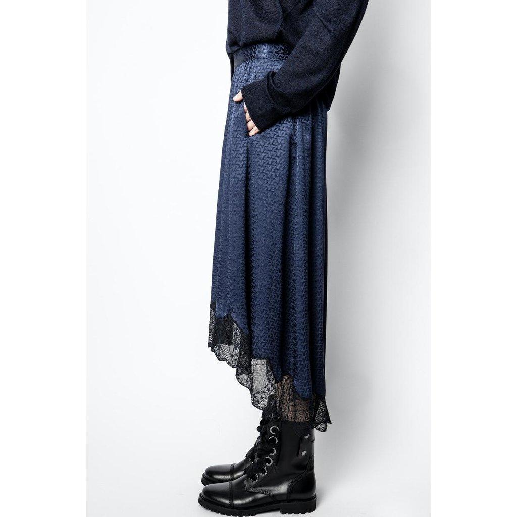 Zadig & Voltaire Navy Skirt Joslin Jac