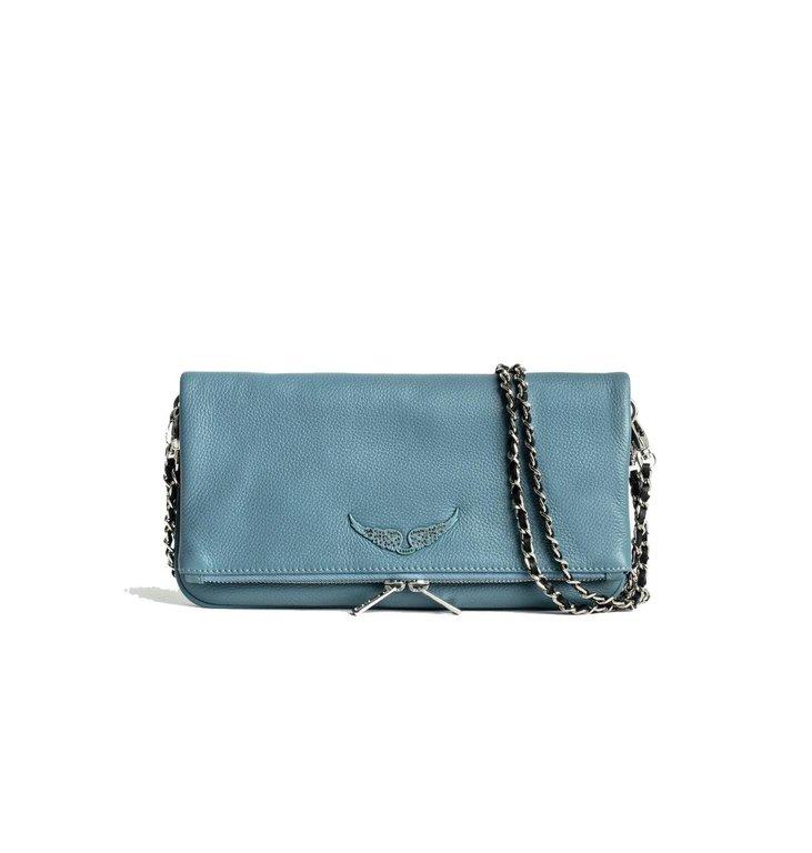 Zadig & Voltaire Zadig & Voltaire Turquoise Bag Rock Grained