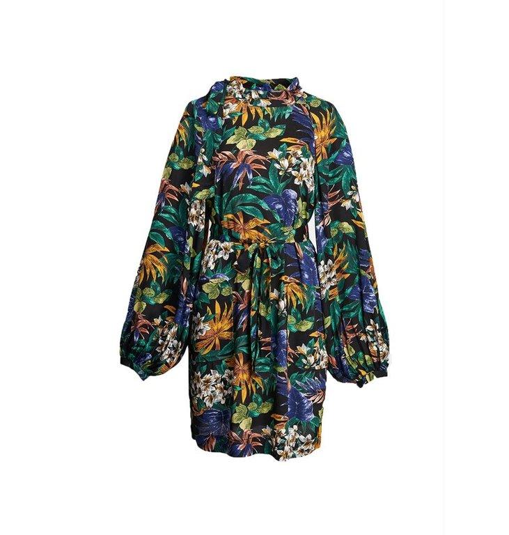 Essentiel Antwerp Essentiel Antwerp Black/Multicolour Raglan Sleeve Dress Zuperman