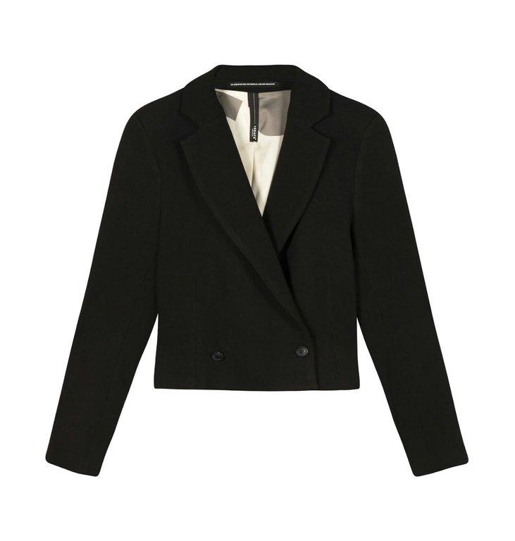 10Days 10Days Black cropped blazer 20-502-1201