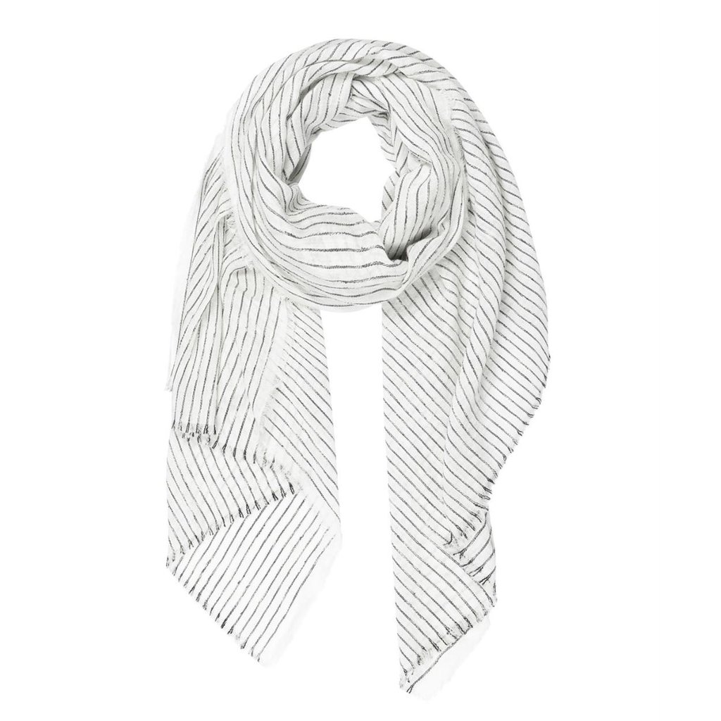 10Days White scarf stripes 20-908-1201