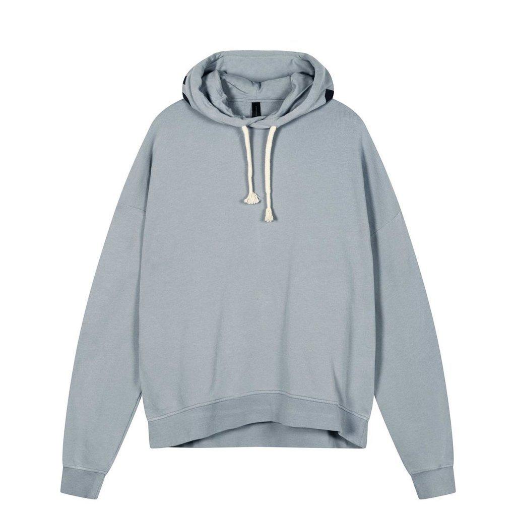 10Days Grey Blue oversized hoodie logo 20-803-1201