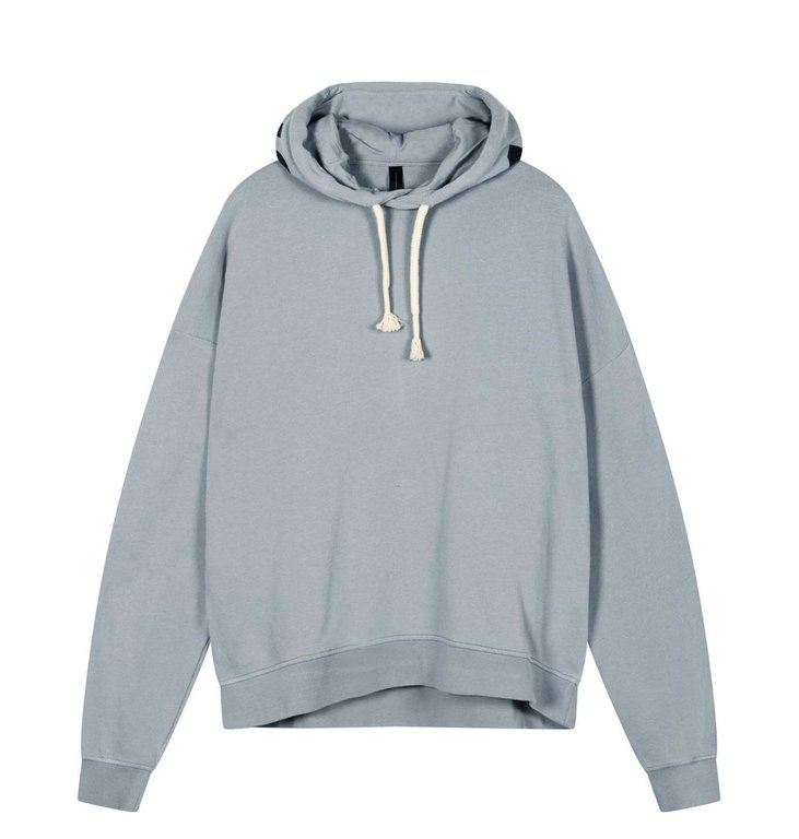 10Days 10Days Grey Blue oversized hoodie logo 20-803-1201