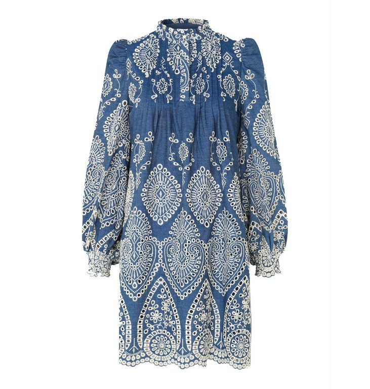 Munthe Munthe Indigo Dress Tepic