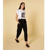 10Days Black paperbag pants 20-015-1201