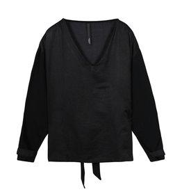 10Days 10Days Black belted top silk fleece 20-405-1201