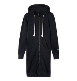 10Days 10Days Black long hoodie cardigan 20-853-1201