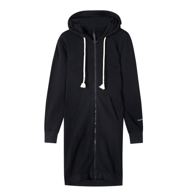 10Days 10Days Black long hoodie cardigan 20-853-1201