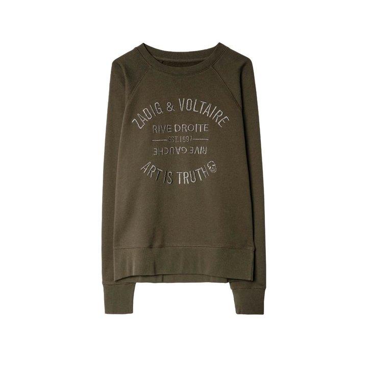 Zadig & Voltaire Zadig & Voltaire Kaki Sweater Upper Blason