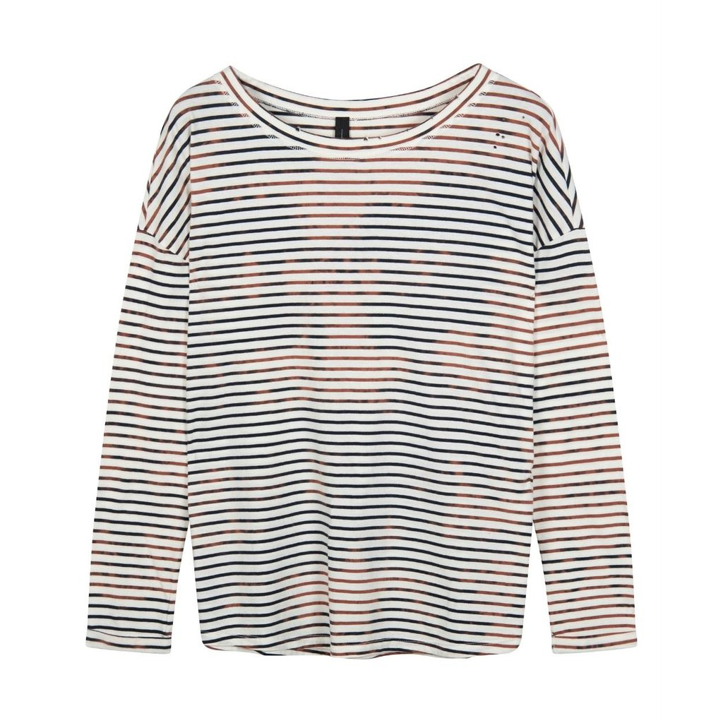 10Days Ecru tee vintage stripes 20-775-1201