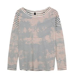 10Days 10Days Ecru tee vintage stripes 20-775-1201