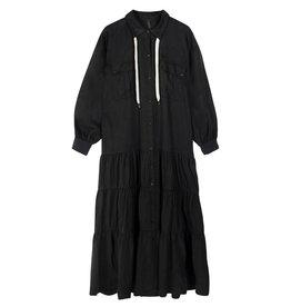 10Days 10Days Black maxi shirt dress 20-334-1201
