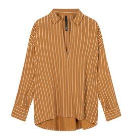 10Days 10Days Caramel blouse pinstripe 20-401-1201