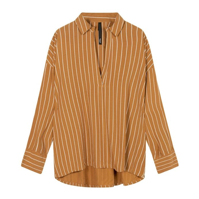 10Days Caramel blouse pinstripe 20-401-1201