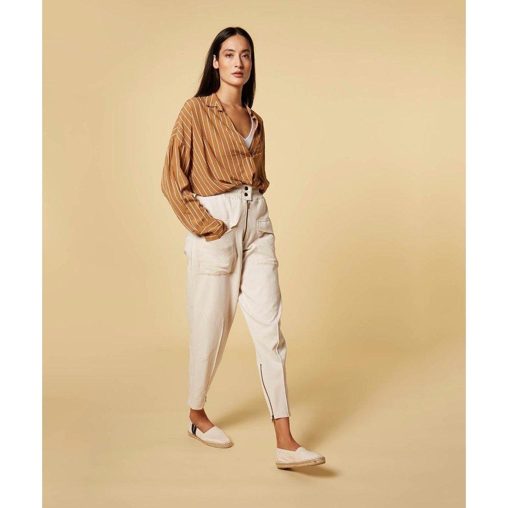 10Days Caramel blouse pinstripe 20-401-1201