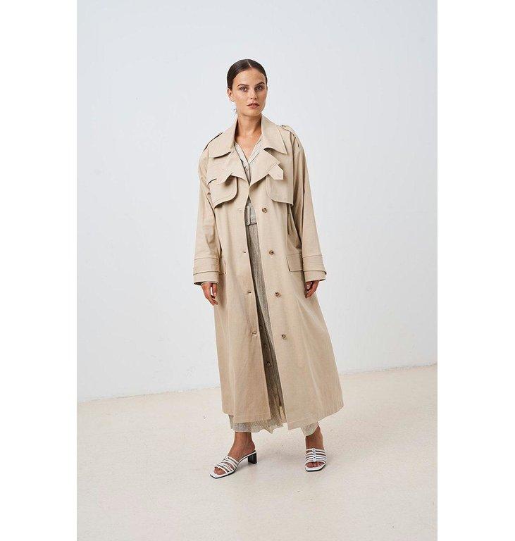 Chptr S Chptr S Beige Trenchcoat Desert Coat
