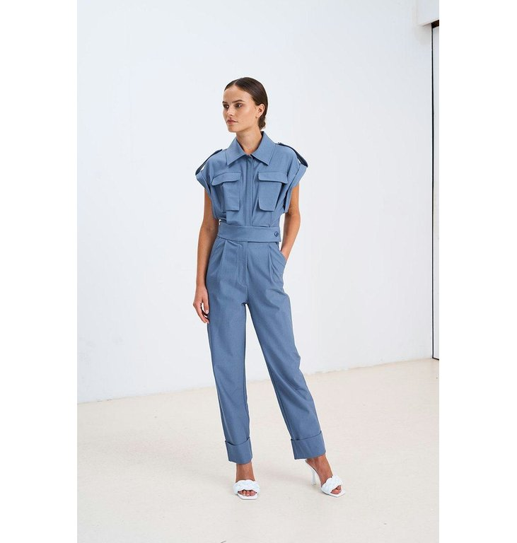 Chptr S Chptr S Blue Jumpsuit Forest Jumpsuit