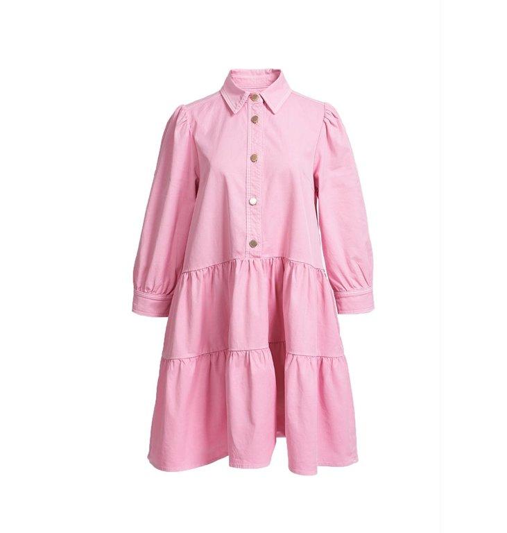 Essentiel Antwerp Essentiel Antwerp Pink Puffy Sleeve Shirtdress Zuniyi
