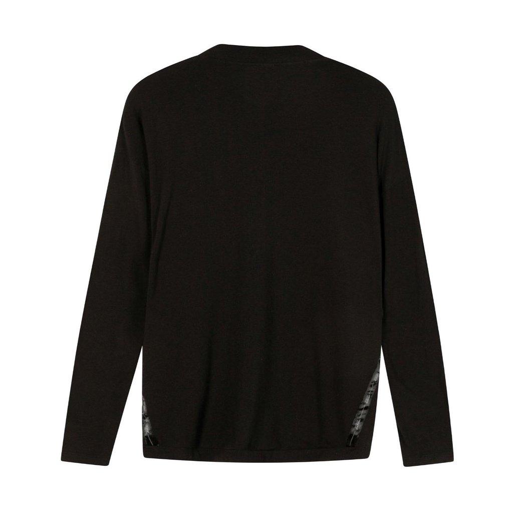 10Days Black soft v-neck tee 20-774-1201