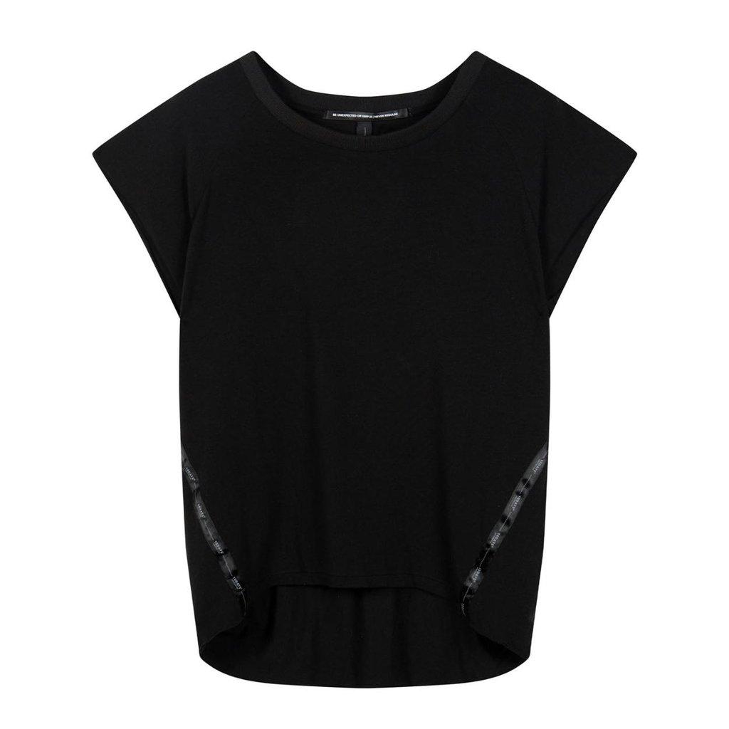 10Days Black soft short sleeve tee 20-750-1201