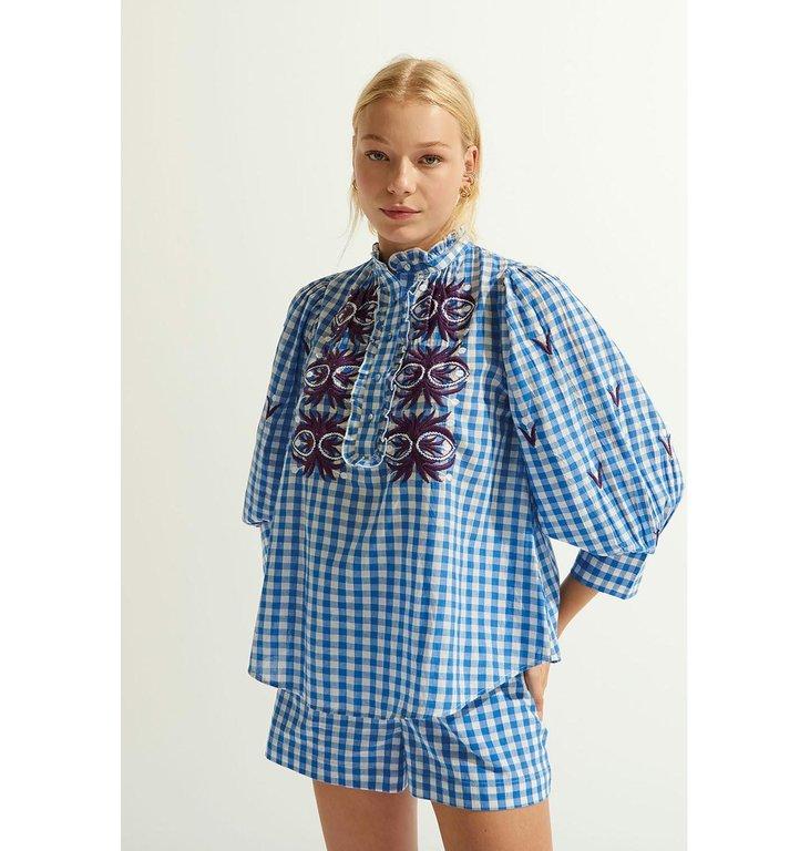 Antik Batik Antik Batik Blue/White Blouse Patty1blo