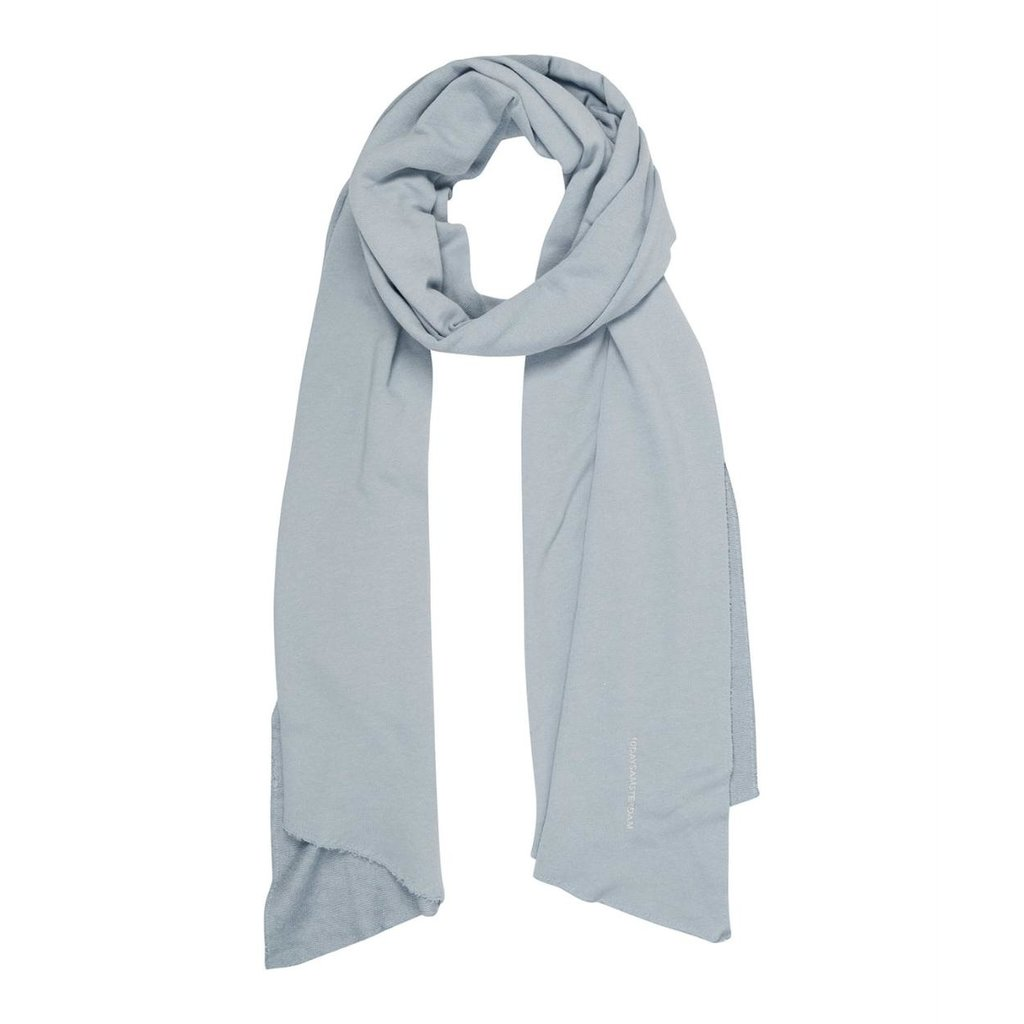 10Days Grey Blue scarf fleece logo 20-904-1201