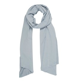 10Days 10Days Grey Blue scarf fleece logo 20-904-1201