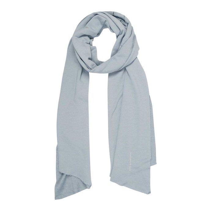 10Days Grey Blue scarf fleece logo 20-904-1201