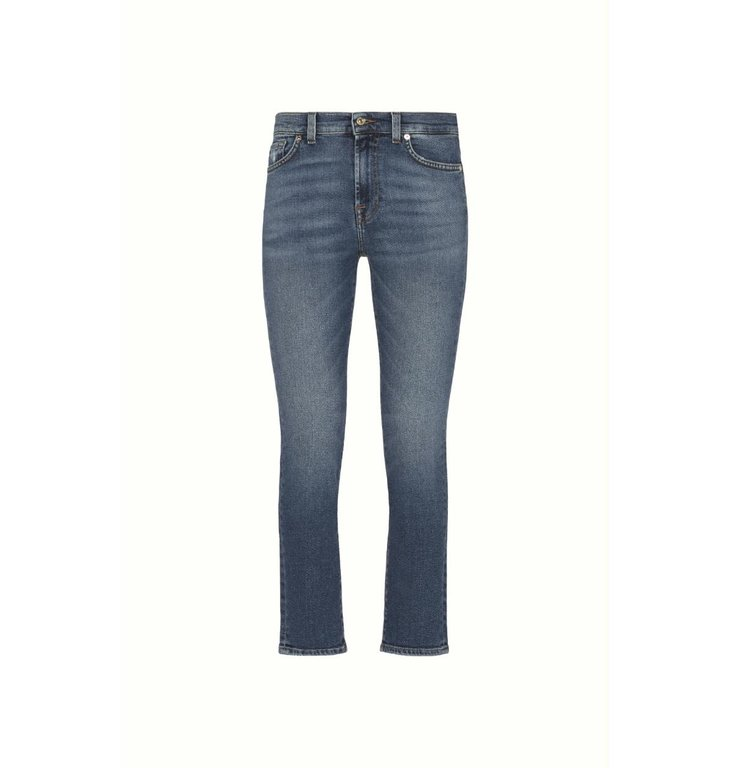 7 For All Mankind 7 For All Mankind Denim Dark Blue Roxanne Ankle Jeans JSVY1200CI