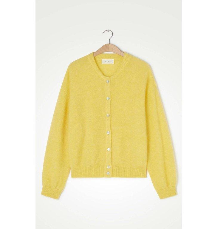 American Vintage American Vintage Yellow Cardigan Zabi255