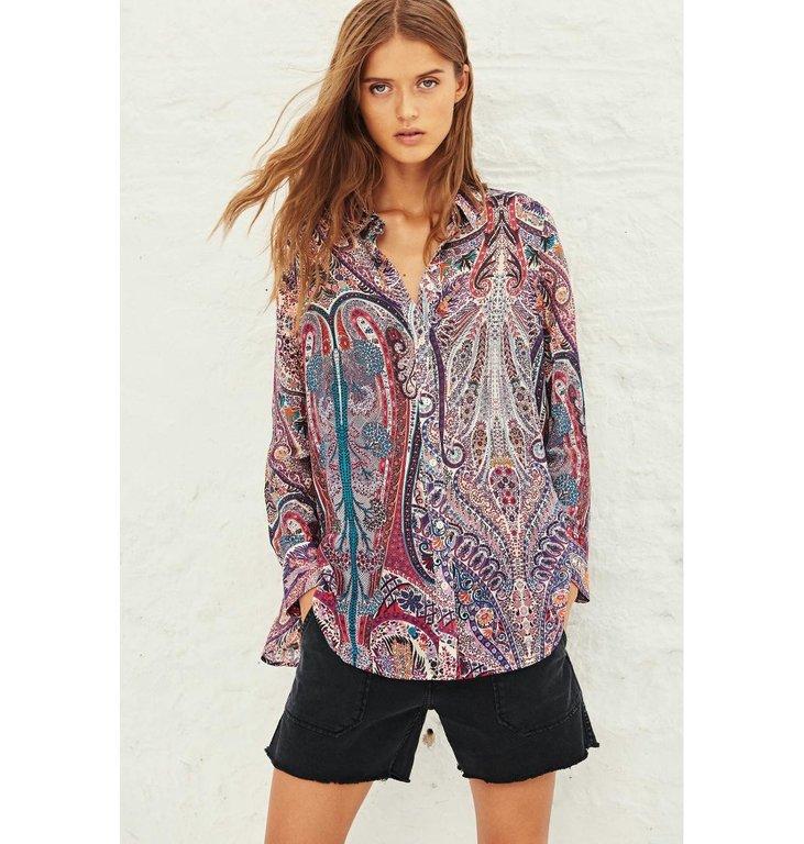 Ba&sh Ba&sh Print Blouse Blake Shirt