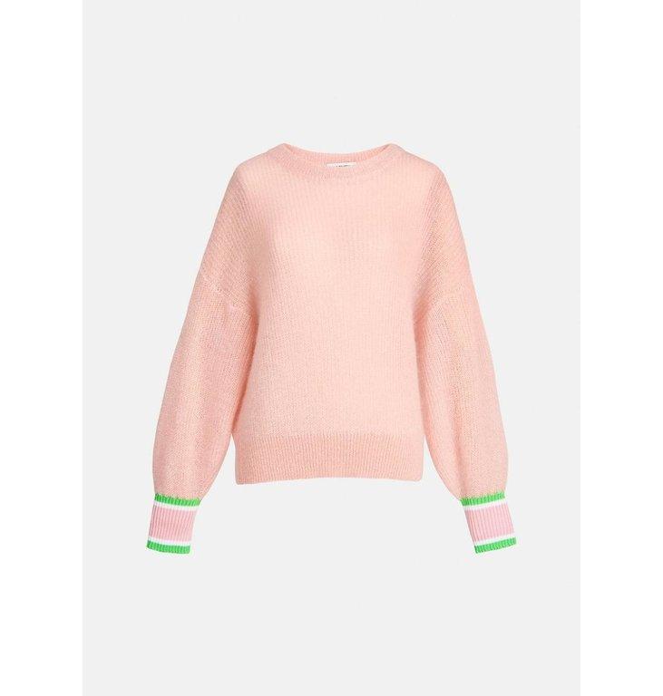 Essentiel Antwerp Essentiel Antwerp Pink Kid Mohair Pullover Zarqua