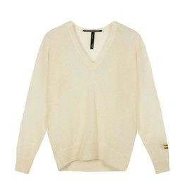 10Days 10Days Soft White v-neck sweater alpaca 20-600-1201