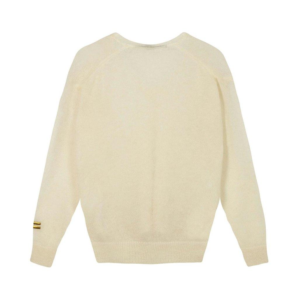 10Days Soft White v-neck sweater alpaca 20-600-1201