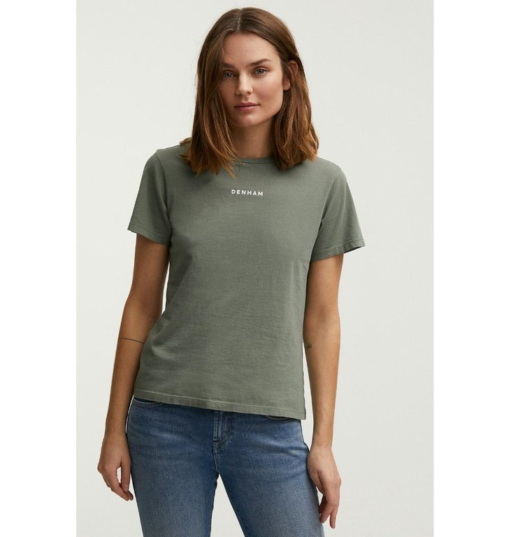 Denham Denham Kaki T-shirt Camellia Graphic