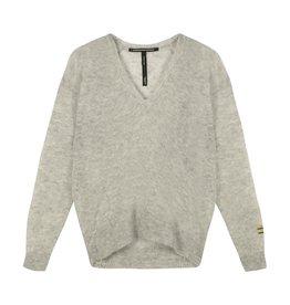 10Days 10Days Grey Melee v-neck sweater alpaca 20-600-1201