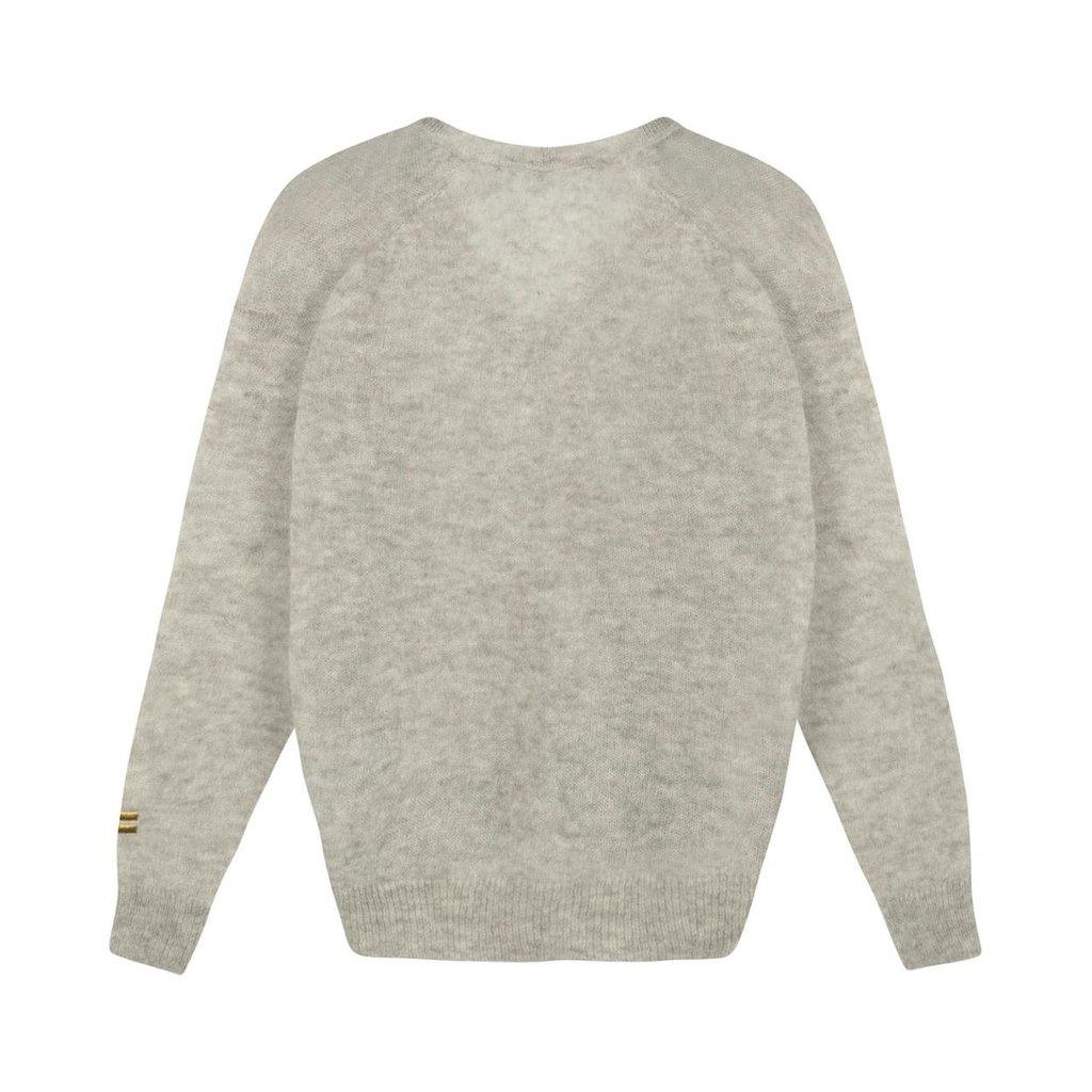 10Days Grey Melee v-neck sweater alpaca 20-600-1201