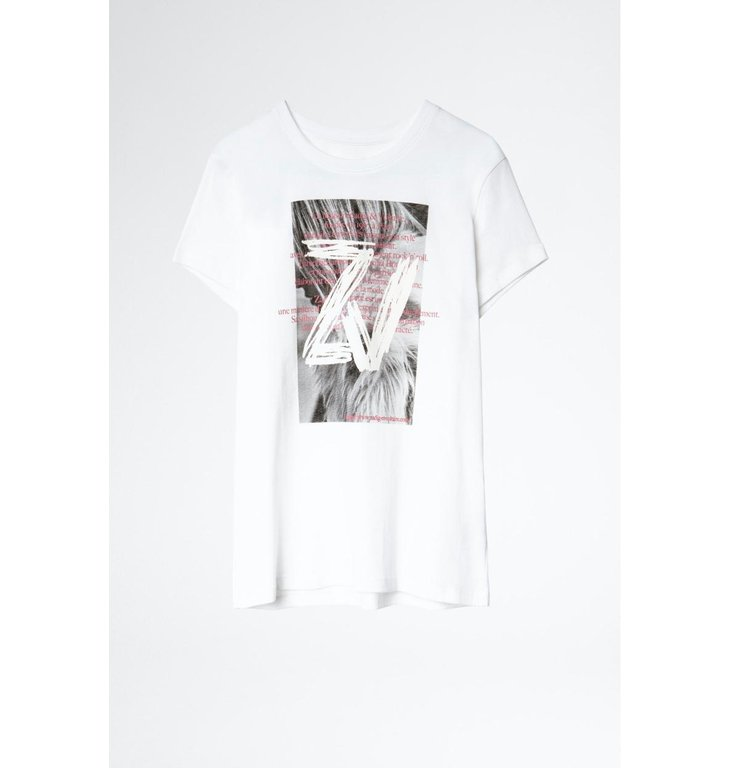 Zadig & Voltaire Zadig & Voltaire White T-shirt Zoe Photoprint