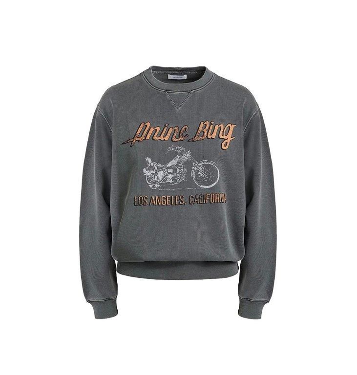 Anine Bing Anine Bing Anthraciet Ramona Sweatshirt Motorcycle A-09-5055-069A