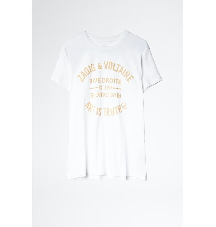 Zadig & Voltaire Zadig & Voltaire White T-shirt Zoe Blason