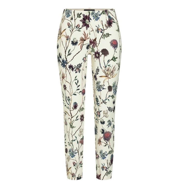 Cambio Cambio Off White Ros Floral Pantalon 6763-0287-00