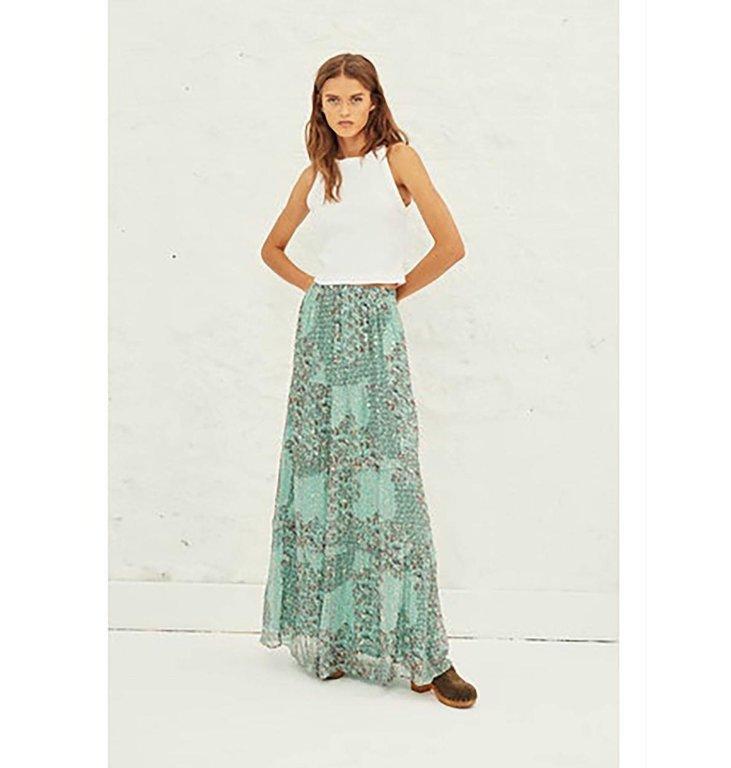 Ba&sh Ba&sh Turquoise Skirt Obbie